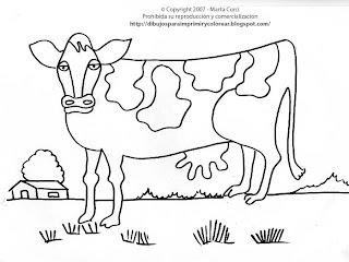 Dibujos Para Colorear Y Pintar De Animales De La Granja Dibujo