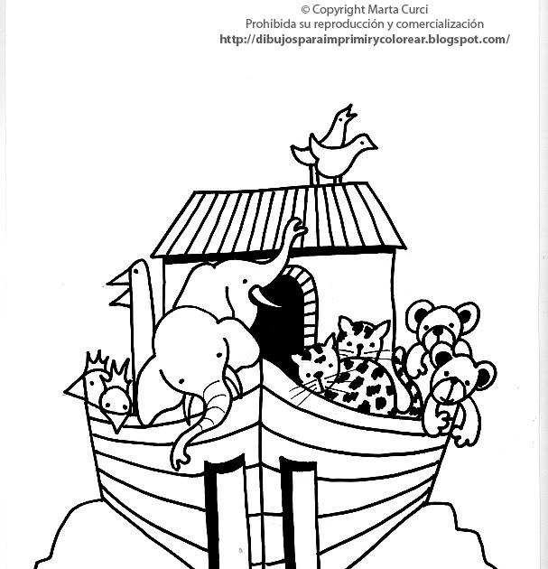 Dibujos Para Imprimir Y Colorear Gratis Para Niños Dibujo Del Arca