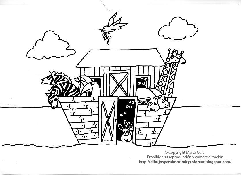 Dibujos para imprimir y colorear gratis para niños: Dibujo del Arca ...