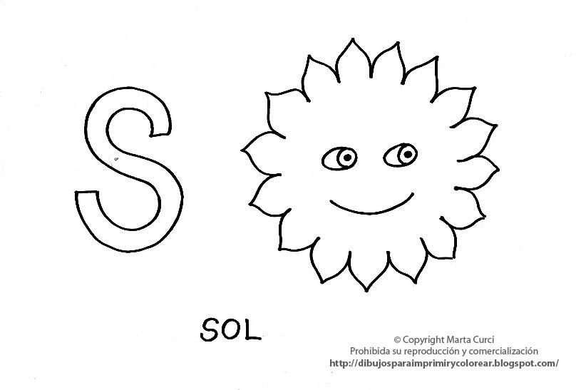 Dibujos De Sol Para Colorear E Imprimir: Dibujos Para Imprimir Y Colorear Pintar Imagenes Para