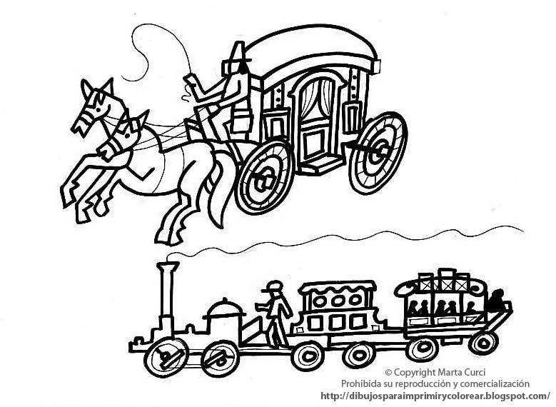 Transportes Por Tierra Para Colorear: Dibujos De Transportes Para Colorear Para Ninos De Kinder
