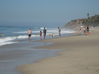 View of Leo Carillo State Park Dog Beach