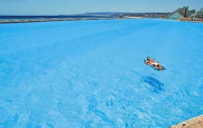 maior piscina do mundo 1 Maior piscina do mundo fica no Chile e tem 1km