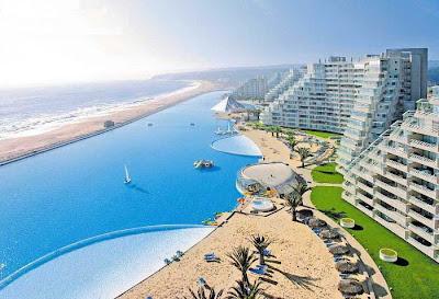 maior piscina do mundo 4 Maior piscina do mundo fica no Chile e tem 1km