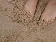 em a praia do Punta D' Oro