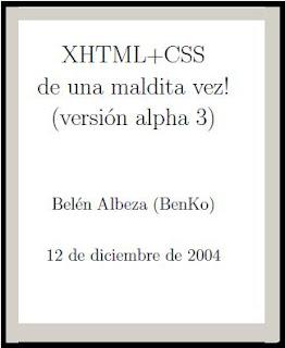 XHTML + CSS de una maldita vez!