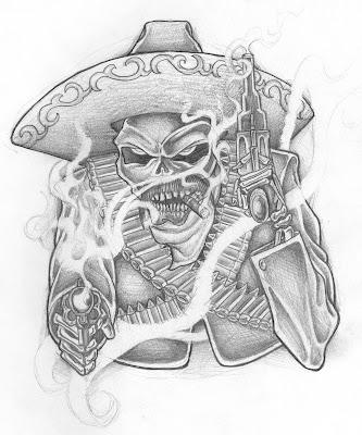 guns tattoos. Skulls+and+guns+tattoos