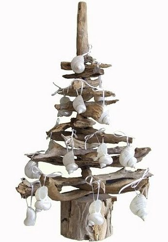 Natural modern interiors recycled driftwood christmas tree for Hanging driftwood christmas tree