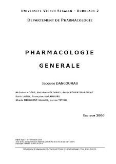 Pharmacologie Générale dans Pharmacie