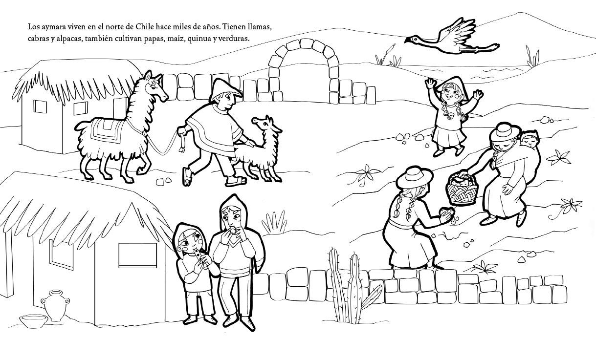 Dibujo De Chilena Para Colorear: BIBLIOTECA EN ACCIÓN: Pueblos Originarios