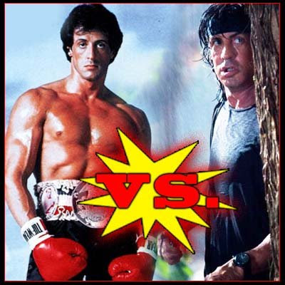 The Best Mob Blog: ROCKY VS  RAMBO - YOUNG SELF FIGHTS OLD SELF