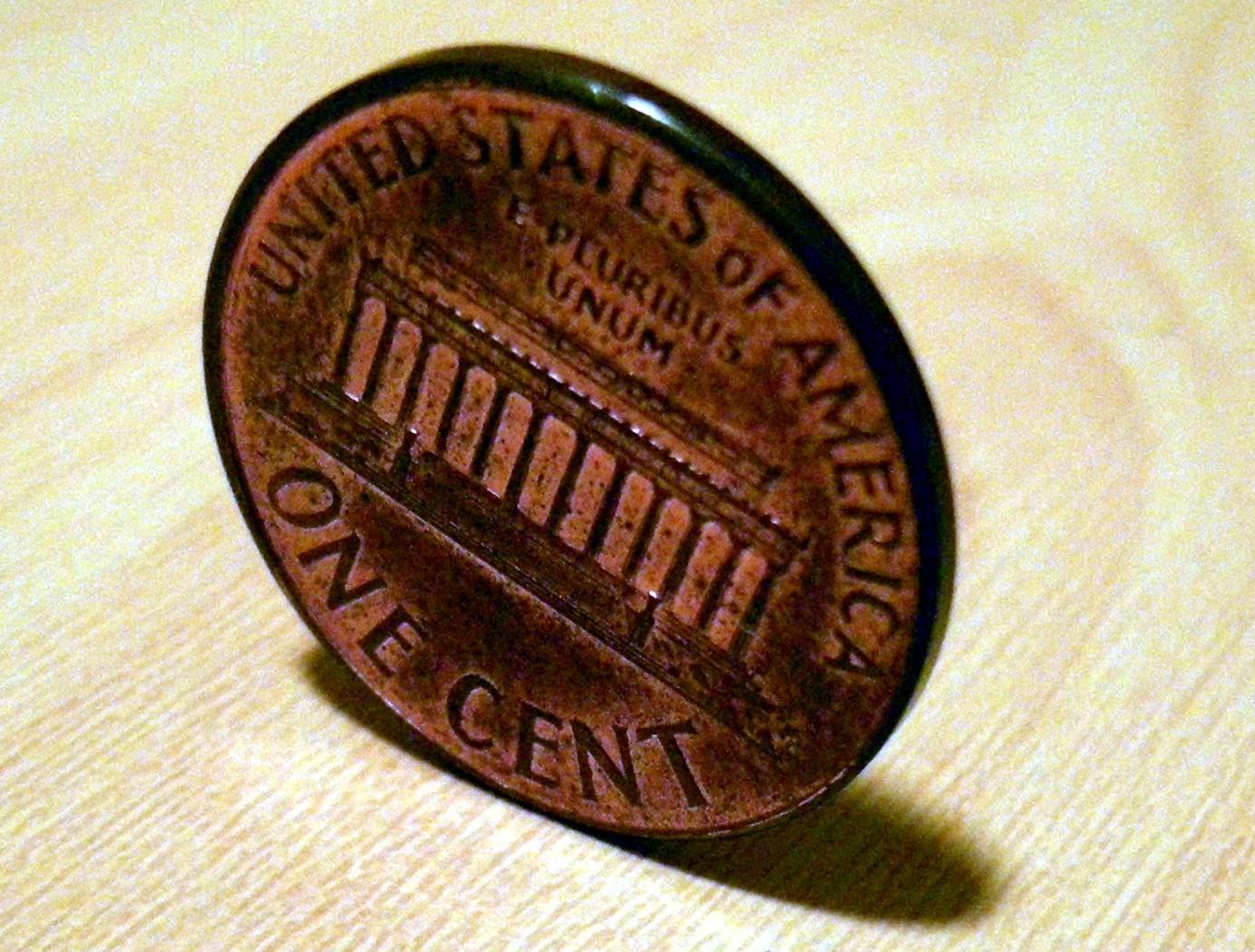 coin landing on edge