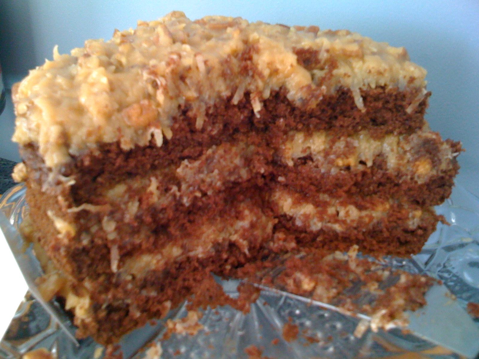 Homemade German Chocolate Cake   T Baker's Cakes