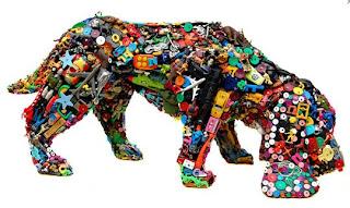 juguete de plastico, arte