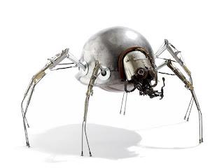 Stephane Halleux y su galeria robots y humanoides  Steampunk
