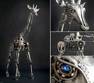 esculturas con desechos metálicos y otros el arte de reciclar