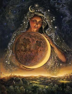 Resultado de imagem para lua e mulher