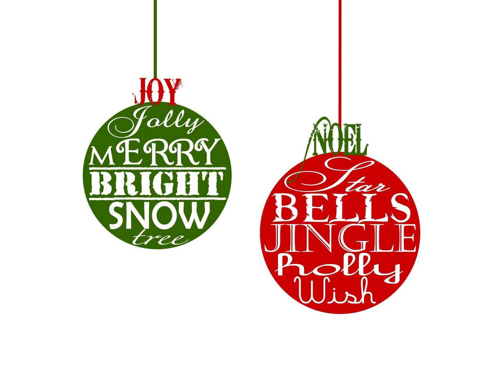Christmas Wallpapers Free: Christmas Ornament Printables