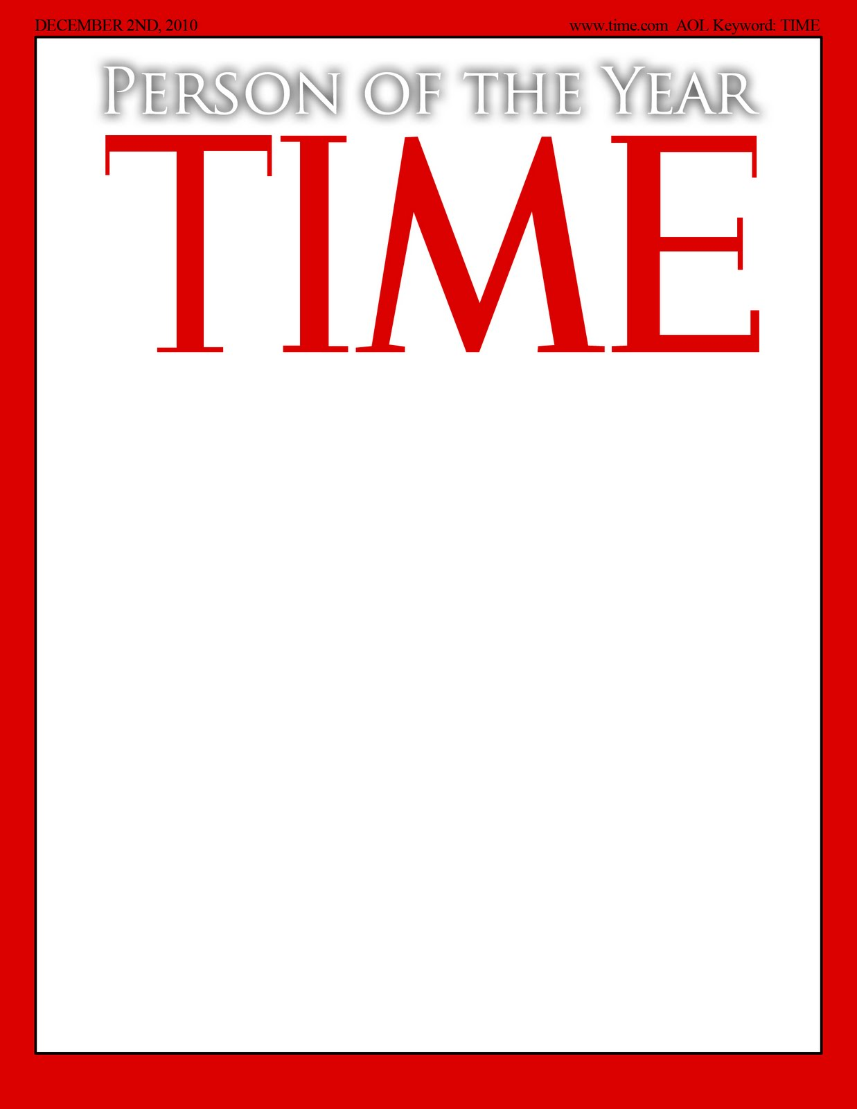 time magazine template