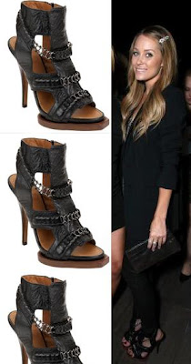 56500a0e75a Lauren Conrad was seen wearing the Givenchy Chain Link Gladiators in black.  You can get your own pair for  1