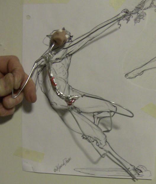 Armature Wire Figure Sculpture