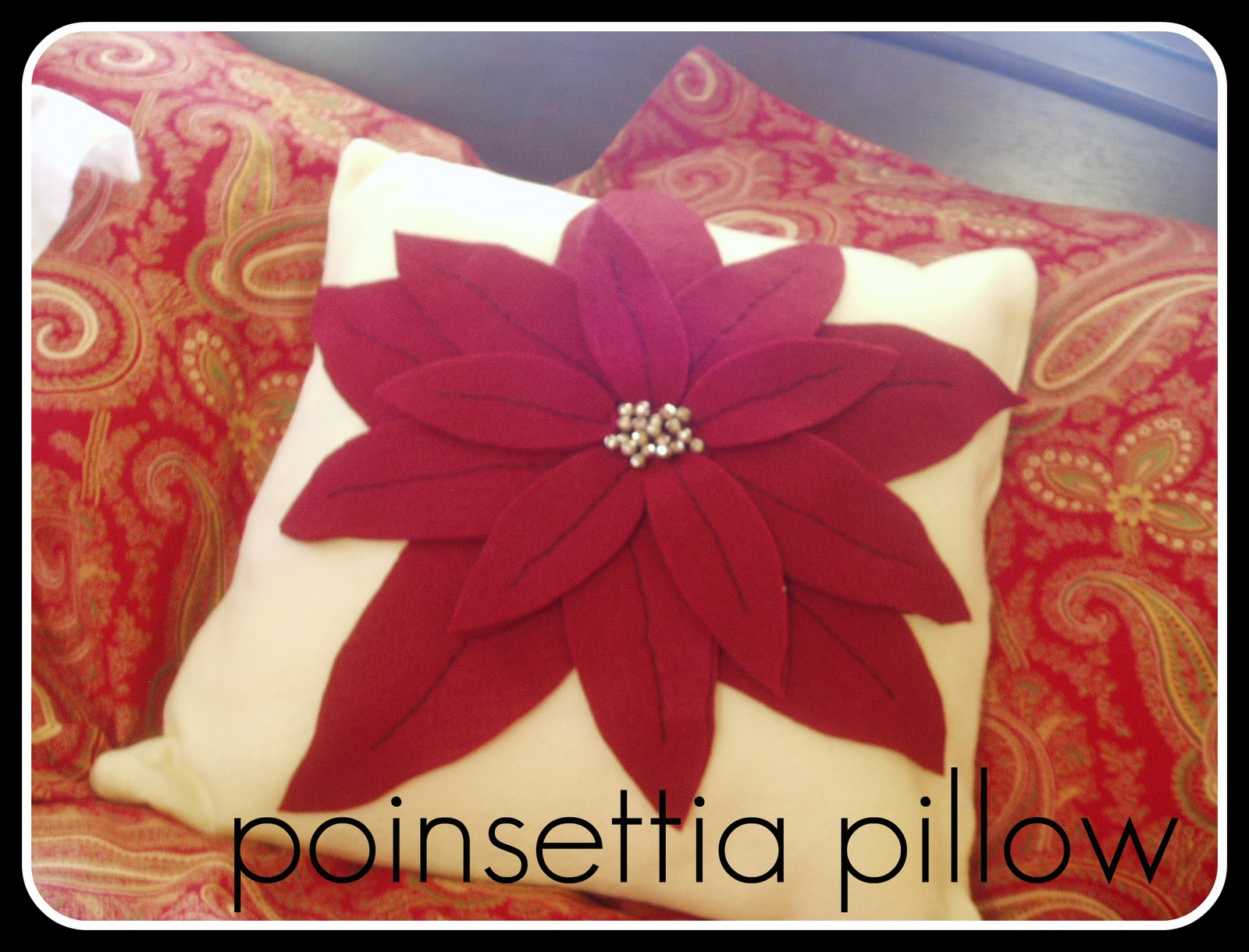 Spartan Living Poinsettia Pillow Tutorial