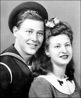 Courtesy of Martin and Leah Levy In 1943, the couple posed for this photo in New York City.