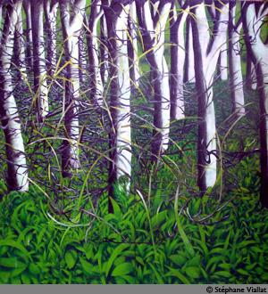Peinture à l'huile - 220x230 cm