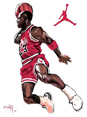 Resultado de imagen de michael jordan dibujo