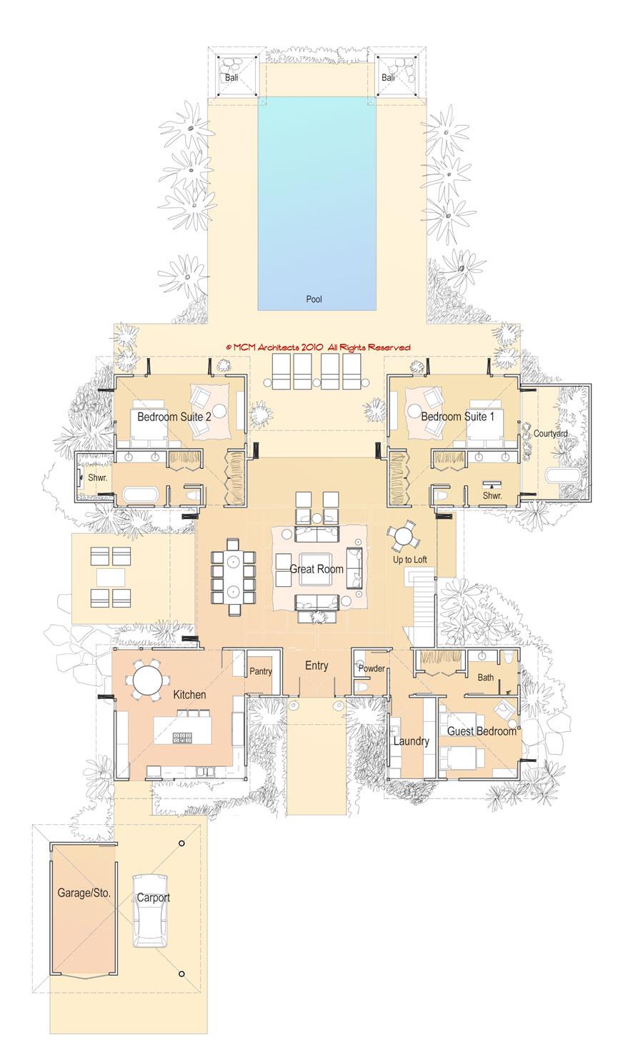 MCM DESIGN Island House Plan 6