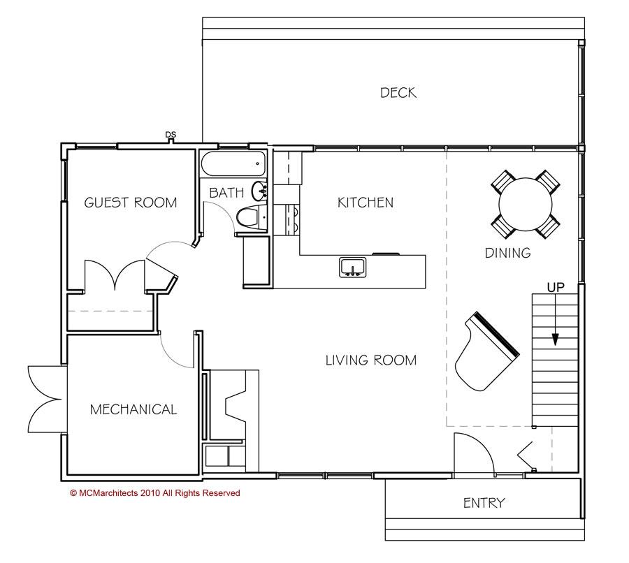 Renovation House Floor Plan: MCM DESIGN: Portland Small House Renovation