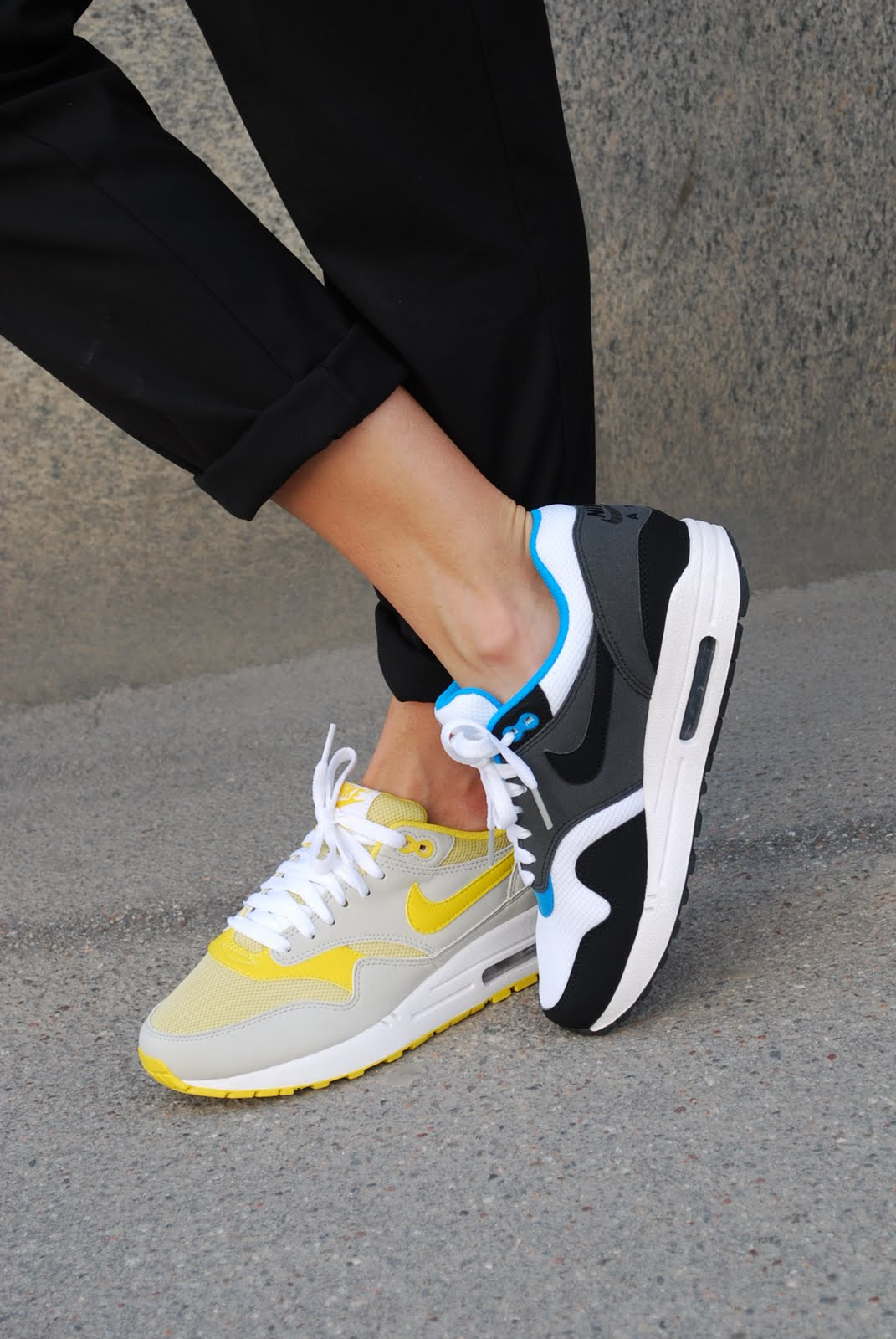 the latest 4fbb3 5ce49 Nike Air Max 1 - YellowGreyWhite colormix (Womens Airs)