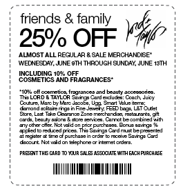 Find all of Lord and Taylor coupon codes, in store shopping pass, and special discounts over at newsubsteam.ml and scroll down this DealsPlus page for more coupon savings and deals. Get free shipping on your entire purchase of $99 or more (or $49 on your beauty purchase).
