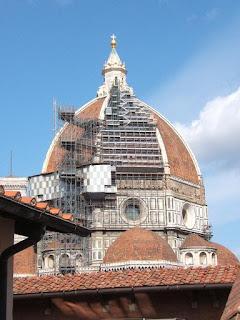 La cupula de Brunelleschi des de la Biblioteca, una abraçada M.G.F.!