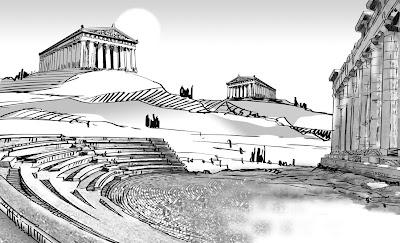 Un dibujo a línea para un fondo de animación (Background)