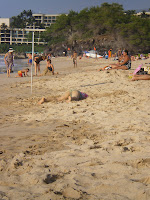 A golden beach on the Kona side of the Big Island of Hawaii