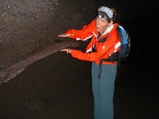 The Professional Hobo hiking in Thurston Lava Tube at Hawaii Volcanoes National Park