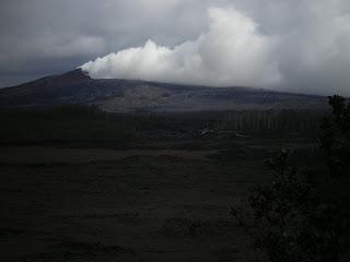 A steaming volcano at Hawai'i Volcano National Park