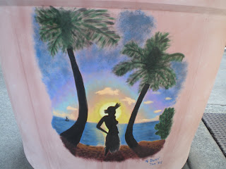 painting a mural in Hawaii in trade for free accommodation