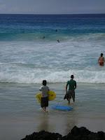 boogie boarding in Hawaii