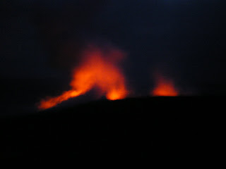 lava spurting from a volcano in Hawaii