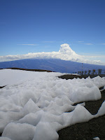 Snow at the top of Mauna Kea; what a site while driving around the Big Island of Hawaii!