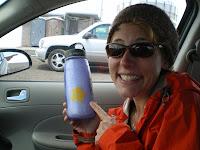 Snow in my water bottle