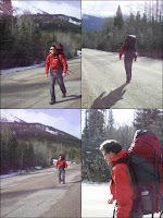 Kelly with his backpack on the trip from Edmonton to Prince Rupert