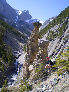 Hiking in the mountains outside of Jasper and Banff