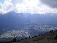 The view of Canmore