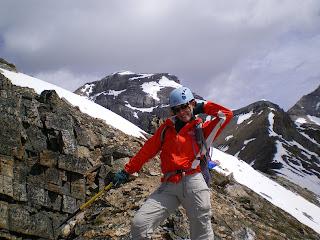 Nora Dunn, The Professional Hobo, posing on Mount Richarson