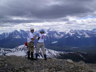 At the top of Mount Richardson, near Lake Louise!
