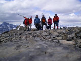Out ascent team on Mount Richarson