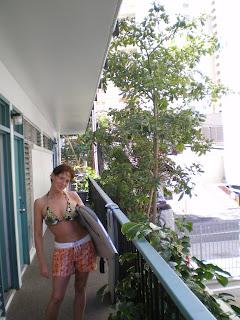 boogie boarding in Honolulu
